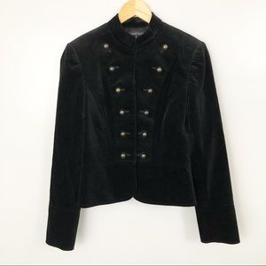 Antonio Melani | 4 | Black velvet military blazer